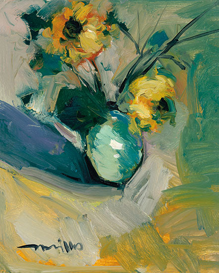 Jose Trujillo TRU108 - Sunflowers - 12x16 Flowers,  Sunflowers, Vase, Vase of Flowers, Abstract, Botanical, Impressionism from Penny Lane