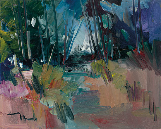 Jose Trujillo TRU111 - A New Day - 16x12 Abstract, Landscape, Trees, Impressionism from Penny Lane