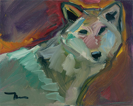 Jose Trujillo TRU115 - Simply Watching - 16x12 Wolf, Abstract, Portrait, Wildlife, Impressionism  from Penny Lane