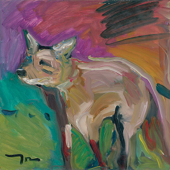 Jose Trujillo TRU121 - The Little Fox - 12x12 Fox, Wildlife, Impressionism, Abstract from Penny Lane