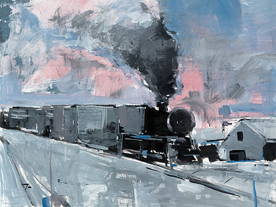 Jose Trujillo TRU126 - TRU126 - Train Station - 16x12 Impressionism, Train, Train Station, Winter from Penny Lane