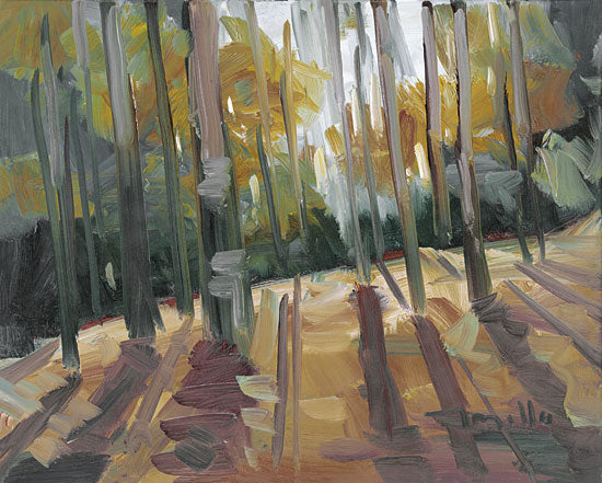 Jose Trujillo TRU134 - TRU134 - Backlit Woods   - 16x12 Abstract, Landscape, Autumn, Impressionism from Penny Lane