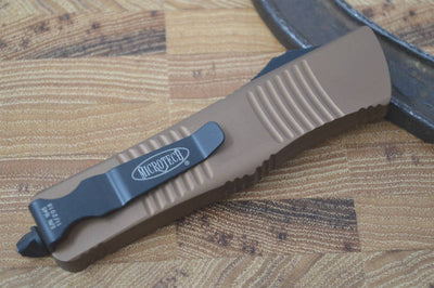 Microtech Troodon OTF - Double Edge / Black Plain Edge Blade - 138-1TA