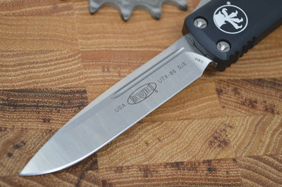 Microtech UTX-85 OTF - Single Edge / Satin Blade / Black Body - 231-4 - Northwest Knives