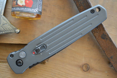 Gerber Covert Push Button Knife - Gray w/ Black S30V Blade- Automatic Knife