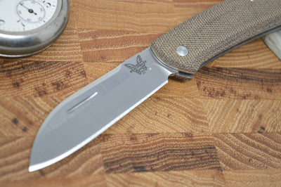 Benchmade 319 Proper Sheepsfoot Blade - Micarta Handle - Traditional Folder