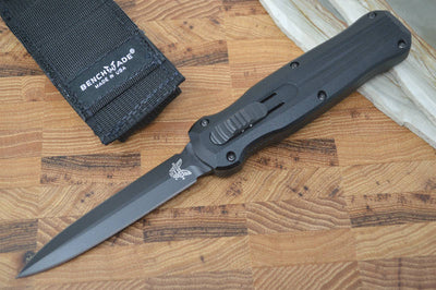 Benchmade 3320BK Pagan OTF - Black Blade - Automatic Knife