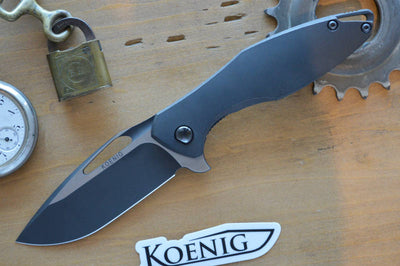 Koenig Knives Arius - DLC Coated and Distressed - Northwest Knives Meridian ID
