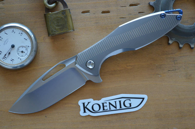 Koenig Arius - Style 57 - Hand Rubbed Blade & Polished Chamfers - Northwest Knives