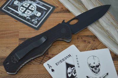 Emerson Knives CQC-10BT w/ Wave Feature - Black Spearpoint Blade - Northwest Knives