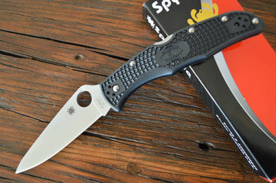 Spyderco Endura - Black Handle / Satin Blade - C10FPBK - Northwest Knives