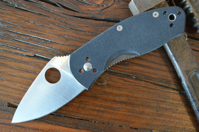 Spyderco Ambitious - Black G10 / Satin Blade - C148GP - Northwest Knives