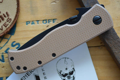Emerson Knives CQC-7 w/ Wave Feature - Black Tanto Blade / Tan G10- Manual Folder - Northwest Knives