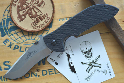 Emerson Knives Commander w/ Wave - Stonewash Blade COMSF - Manual Folder