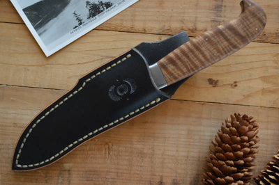 Tippets Custom Knives - Fixed Blade - Semi Skinner in Satinwood - Northwest Knives