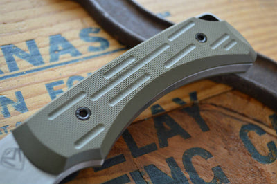 Medford Knife & Tool Colonial - Green G10  - Fixed Blade