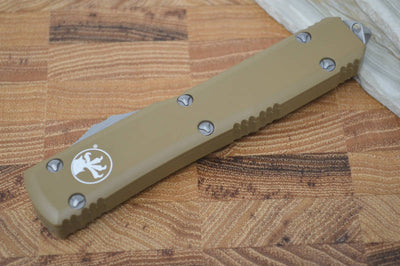 Microtech Ultratech OTF - Double Edge / Satin Blade / Tan Body- 122-4TA - Northwest Knives
