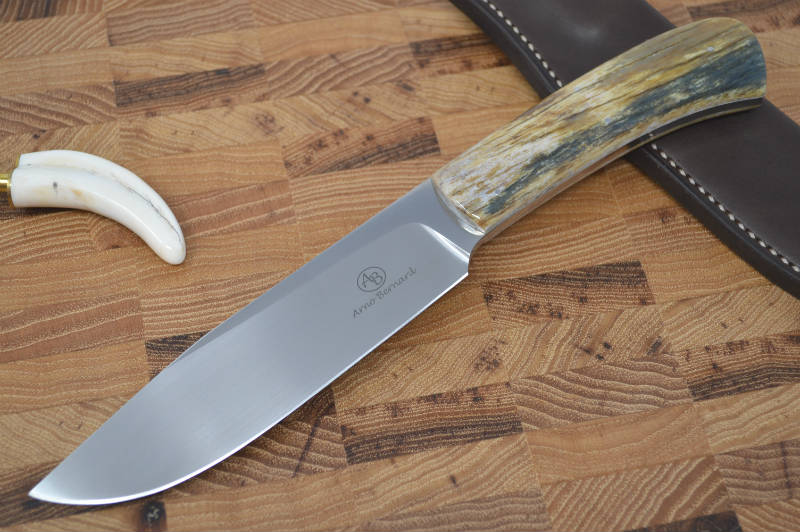 Arno Bernard Elephant - Giraffe Bone Handle - N690 Steel - Northwest Knives