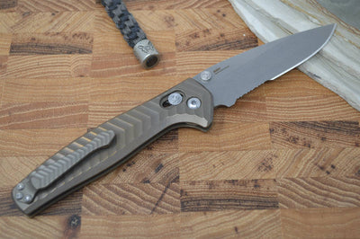 Benchmade 781S Anthem - Satin Combo Blade / Bronze Handle - Northwest Knives