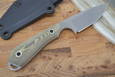 White River Knives Caper - Black & Maple Richlite Handle