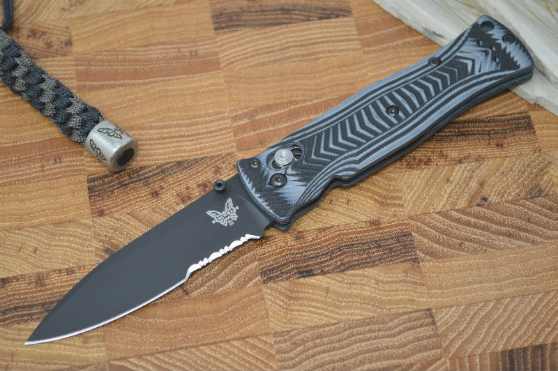 Benchmade 531SBK Pardue Lightweight Axis Folder - Black Partial Serrated Edge - Northwest Knives