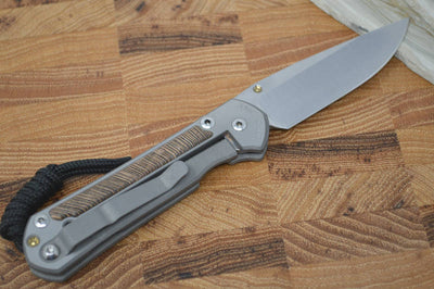 Chris Reeve Knives Small Sebenza 21 - Drop Point - Striped Platan Inlay - Northwest Knives