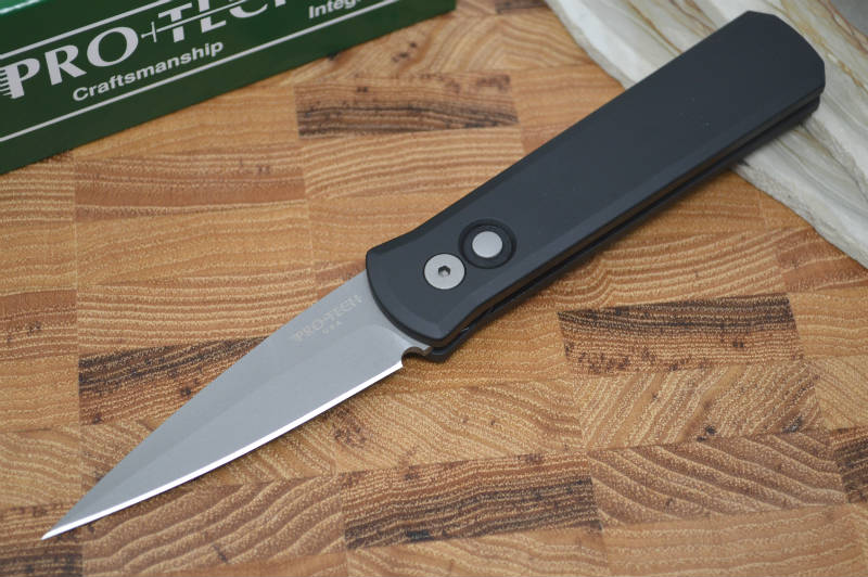 Pro Tech Godson Auto - Black Handle - 154CM Blasted Blade - Northwest Knives