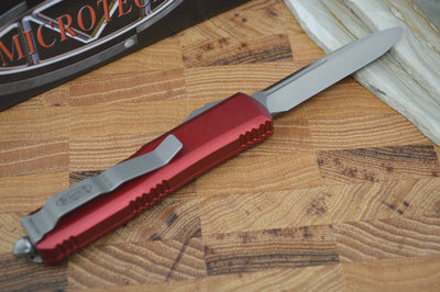 Microtech UTX-85 OTF - Single Edge / Satin Blade / Red Body - 231-4RD - Northwest Knives