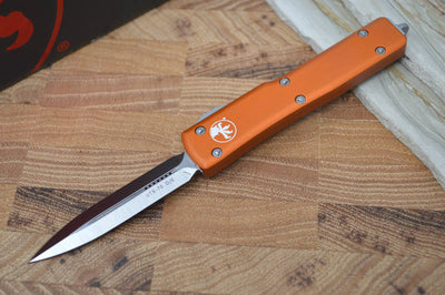 Microtech UTX-70 OTF - Orange Handle / Satin D/E Blade - 147-4OR - Northwest Knives