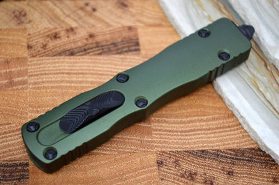 Microtech Dirac OTF - Black Double Edge / OD Green Handle 225-1OD