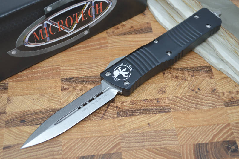 Microtech Combat Troodon OTF - Double Edge / Stonewash Blade - 142-10 - Northwest Knives