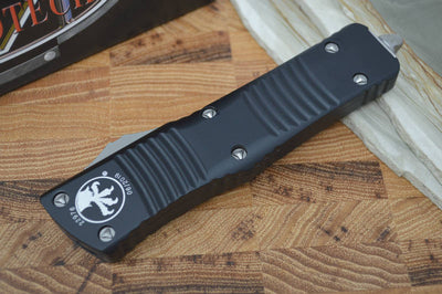 Microtech Combat Troodon OTF - Double Edge / Stonewash Blade - 142-10