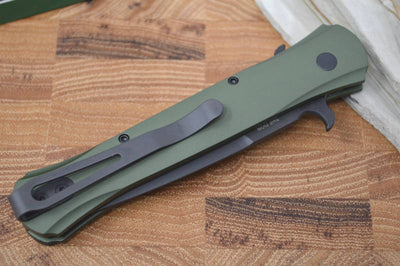 "Pro Tech ""The Don"" Auto - Green Handle - Black 154CM Blade - Northwest Knives"