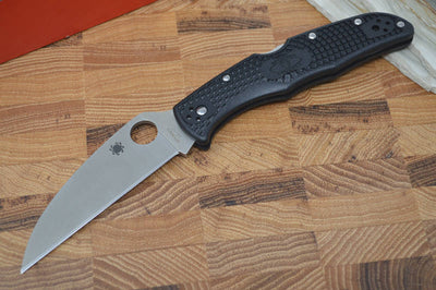 Spyderco Endura - Black Handle / Satin Wharncliffe Blade - C10FPWCBK - Northwest Knives