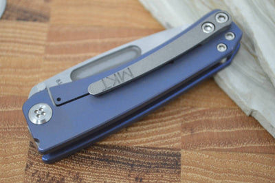 Medford Knife & Tool Dress Marauder Custom- Anodized Dark Blue - S35VN - Northwest Knives