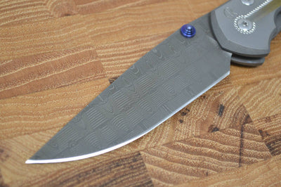 Chris Reeve Knives Large Sebenza 21 - Unique Graphics - Basketweave Damascus (A1)
