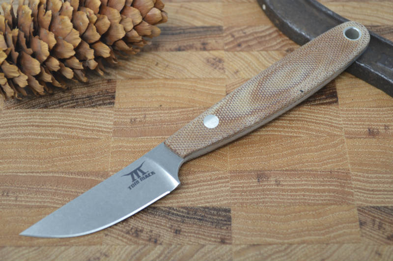 White River Knives Tom Mack Cape - Natural Canvas Micarta Handle - Northwest Knives