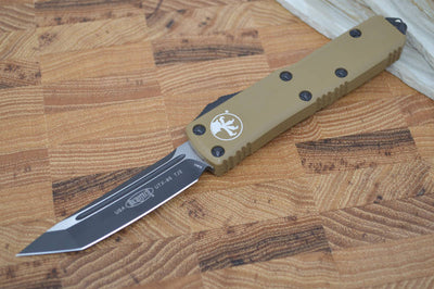 Microtech UTX-85 OTF - Tanto Edge / Black Blade / Tan Body - 233-1TA