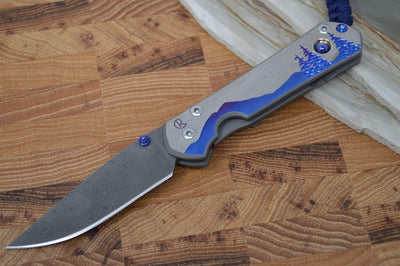 Chris Reeve Knives Small Sebenza 21 - Night Sky - Chad Nichols Raindrop Damascus (A2) - Northwest Knives