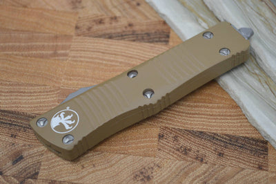 Microtech Troodon OTF - Double Edge / Tan Handle - 138-4TA