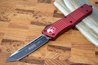 Microtech Combat Troodon OTF - Black Tanto Blade / Red Aluminum Handle 144-1RD