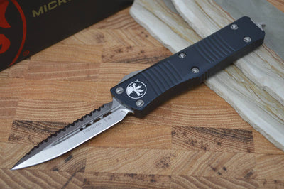 Microtech Troodon OTF - Full Serrated / Stonewash Blade - 138-12 - Northwest Knives