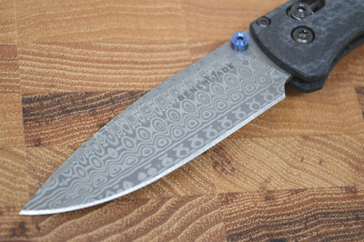 Benchmade 535-191 Gold Class Bugout - Damasteel Blade & Ghost Carbon Fiber