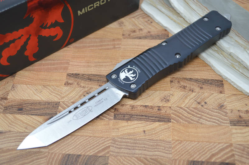 Microtech Combat Troodon OTF - Tanto Edge / Stonewash Blade 144-10 - Northwest Knives