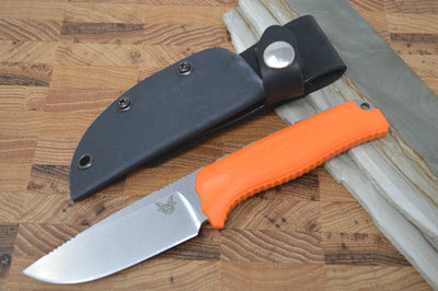 Benchmade 15008-ORG Steep Country Hunter with Orange Rubber Handle - Northwest Knives