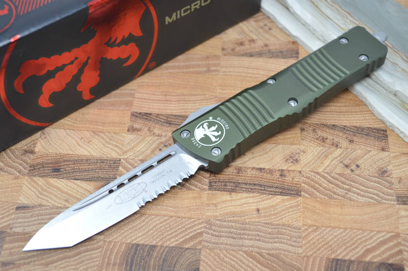 Microtech Combat Troodon OTF - Tanto Edge / Partial Serrate - 144-11OD - Northwest Knives