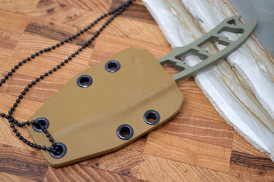 Attleboro Knives Dau Tranh - OD Green Cerakote Handle / Desert Tan Sheath