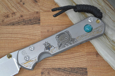 "Chris Reeve Knives Small Sebenza 21 - CGG ""Lunar Landing w/ Chrysocolla"" - Northwest Knives"