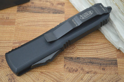 Microtech UTX-85 OTF - Single Edge / Tanto Black Blade / Black Body - 233-1T