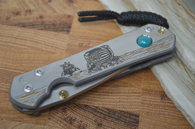 "Chris Reeve Knives Small Sebenza 21 - CGG ""Lunar Landing w/ Chrysocolla"""
